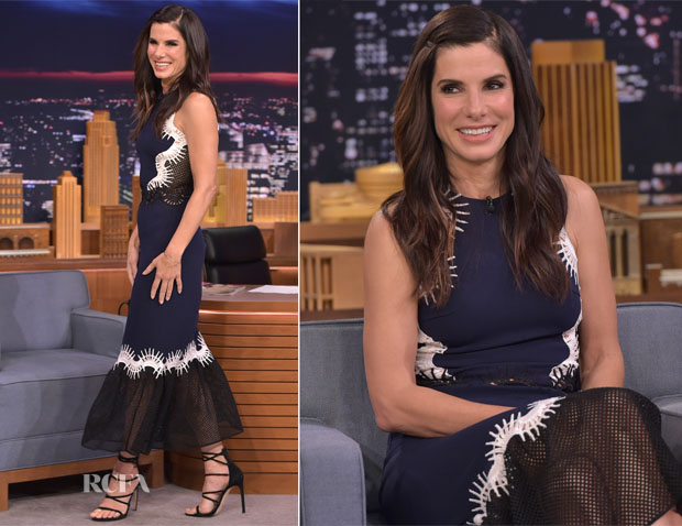 Sandra Bullock In Jonathan Simkhai - The Tonight Show Starring Jimmy Fallon