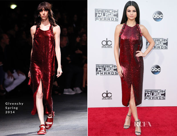 selena gomez in givenchy 2015 american music awards