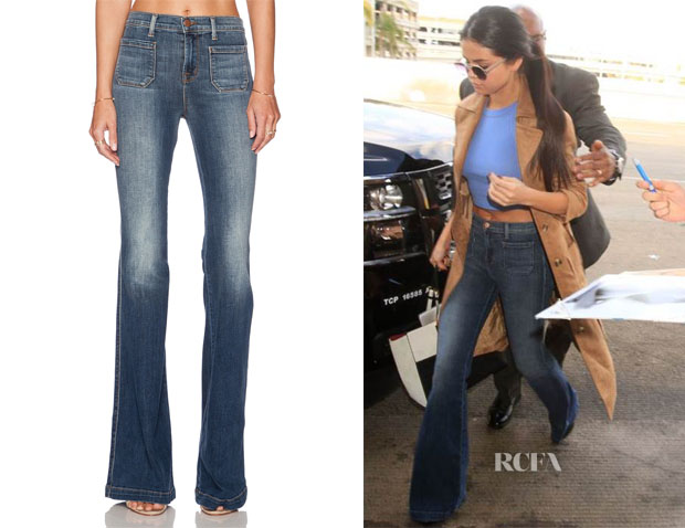 Selena Gomez's J Brand Demi Patched Pocket Flare in Ashbury