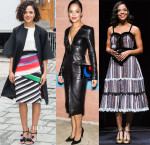 Tessa Thompson In Roksanda, Mary Katrantzou, Kimora Lee Simmons, Altuzarra & Rodarte - 'Creed' Promotion