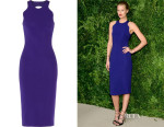 Toni Garrn's Cushnie et Ochs Cut Out Stretch-Cady Dress