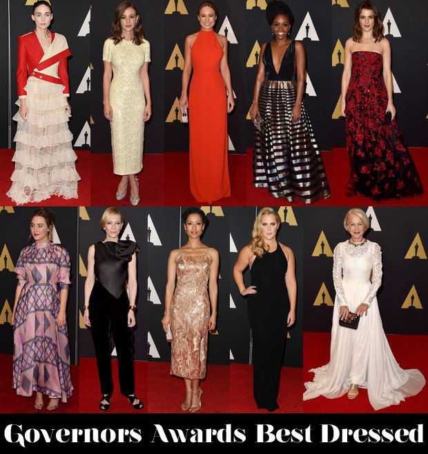 Who Was Your Best Dressed At The Governors Awards