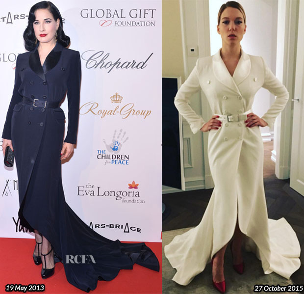 Who Wore Alexis Mabille Couture Better Dita von Teese or Lea Seydoux