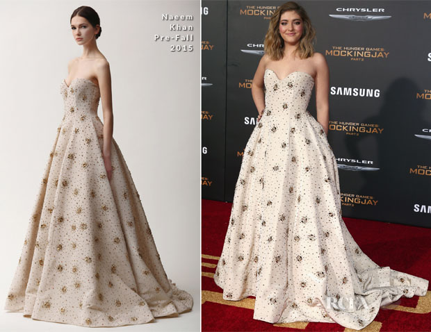 Willow Shields In Naeem Khan - 'The Hunger Games Mockingjay - Part 2' LA Premiere