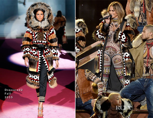 jennifer lopez in Dsquared2 amas
