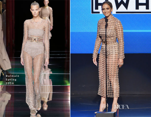 jennifer lopez in balmain amas