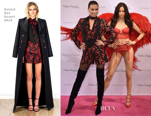 Adriana Lima Unveils Her Madame Tussauds Wax Figure In Rachel Zoe