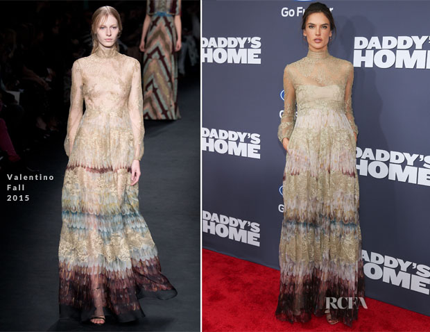 Alessandra Ambrosio In Valentino - 'Daddy's Home' New York Premiere