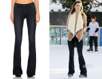 Alessandra Ambrosio's Frame Denim Le High Flare in Moxon