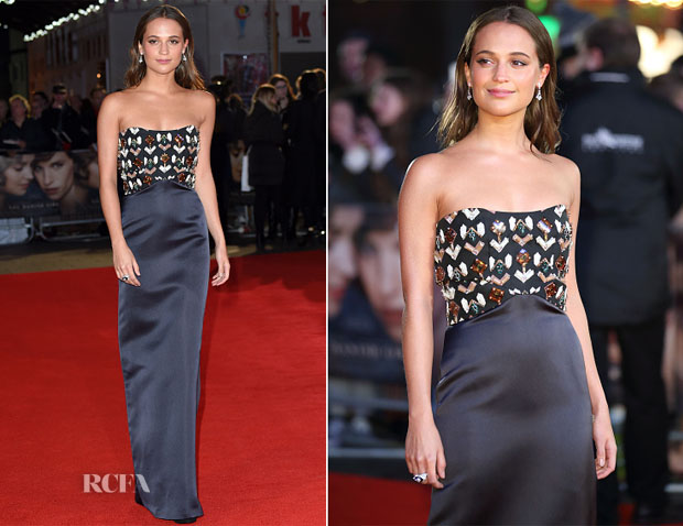 Alicia Vikander In Louis Vuitton - 'The Danish Girl' London Premiere