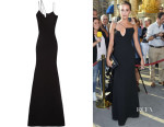 Alicia Vikander's Victoria Beckham Asymmetric Silk and Wool-Blend Crepe Gown