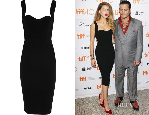 Amber Heard's Victoria Beckham Crepe Dress