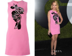 Anna Camp's Christopher Kane Appliquéd Cady Shift Dress
