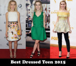Best Dressed Teen 2015 – Kiernan Shipka