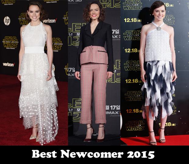 Best Newcomer 2015 - Daisy Ridley