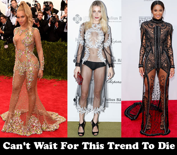 Can't Wait For This Trend To Die - Sheer Dresses