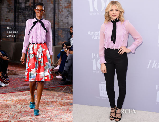 Chloe Grace Moretz in Gucci - The Hollywood Reporter's Annual Women In Entertainment Breakfast