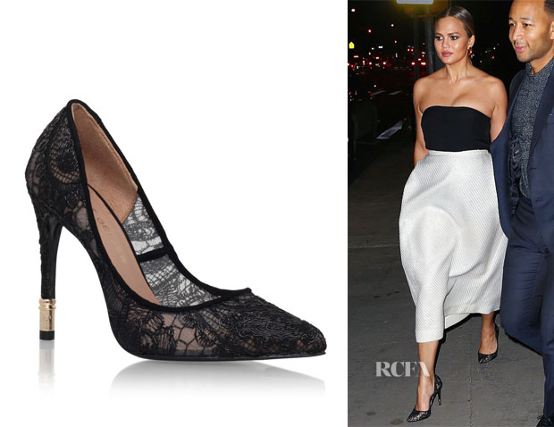Chrissy Teigen's Kurt Geiger London Canonbury Pump