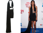 Ciara's Versus Versace Draped Halter Neck Mini Dress