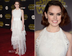 Daisy Ridley In Chloé - 'Star Wars: The Force Awakens' LA Premiere