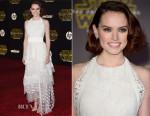 Daisy Ridley In Chloé - 'Star Wars: The Force Awakens' LA Premiere