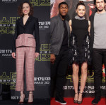 Daisy Ridley In Christian Dior & Giambattista Valli Couture - 'Star Wars: The Force Awakens' Seoul Press Conference & Fan Event