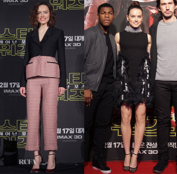Daisy Ridley In Christian Dior & Giambattista Valli Couture - 'Star Wars The Force Awakens' Seoul Press Conference & Fan Event