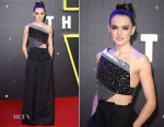 Daisy Ridley In Roland Mouret - 'Star Wars: The Force Awakens' London Premiere