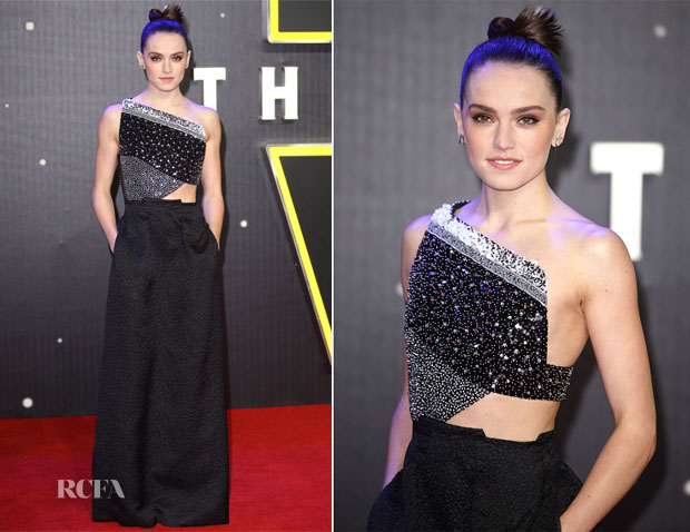 Daisy Ridley In Roland Mouret - 'Star Wars The Force Awakens' London Premiere