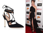 Darby Stanchfield's Kurt Geiger London Barnes Pumps