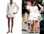 Demi Lovato's Zimmermann  Henna Floating Fringe Short Playsuit