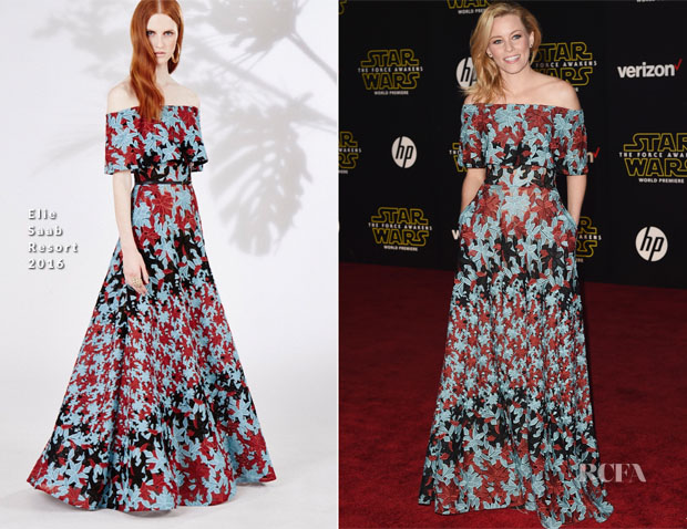 Elizabeth Banks In Elie Saab - 'Star Wars The Force Awakens' LA Premiere