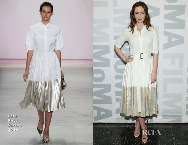 Emily Blunt In Lela Rose - MOMA Film's The Contenders Screening of 'Sicario'