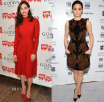 Emmy Rossum In Salvatore Ferragamo & Simone Rocha - Godiva Event & Gotham Independent Film Awards