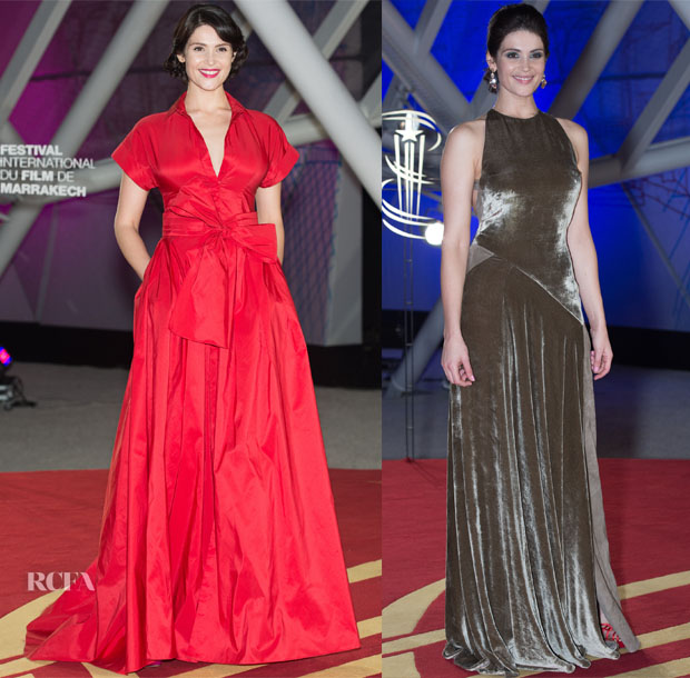 Gemma Arterton In Carolina Herrera - 2015 Marrakech International Film Festival