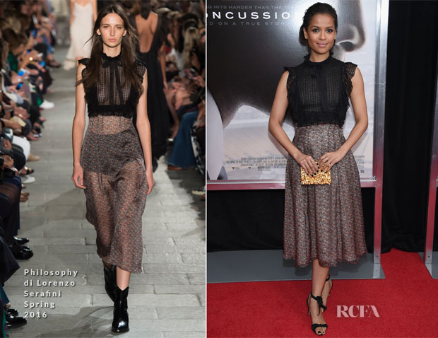 Gugu Mbatha-Raw In Philosophy di Lorenzo Serafini - 'Concussion' New York Premiere
