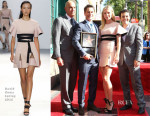 Gwyneth Paltrow In David Koma - Rob Lowe Honored With Star On The Hollywood Walk Of Fame