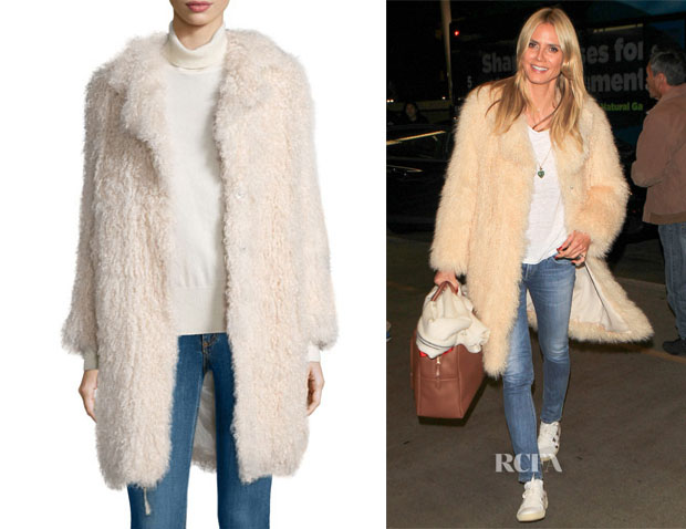 Heidi Klum Elizabeth and James Hart Coat
