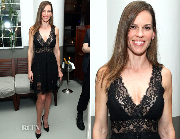 Hilary Swank In Elie Saab -  Annual Art Basel Miami Kick-Off Party