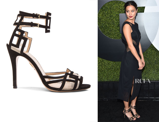 Jamie Chung's Charlotte Olympia Between The Lines Sandals