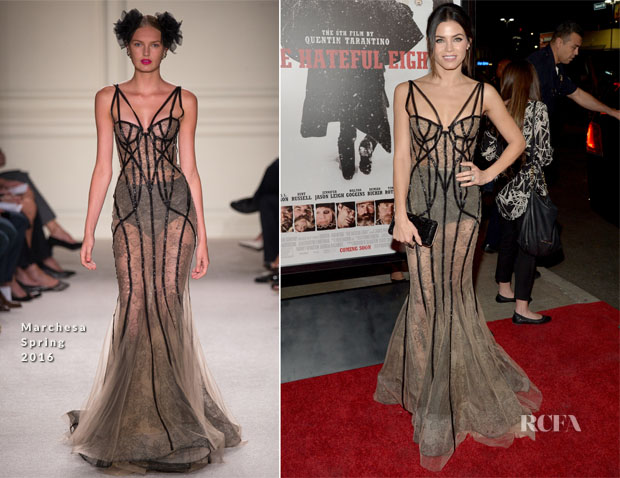 Jenna Dewan-Tatum In Marchesa - 'The Hateful Eight' LA Premiere