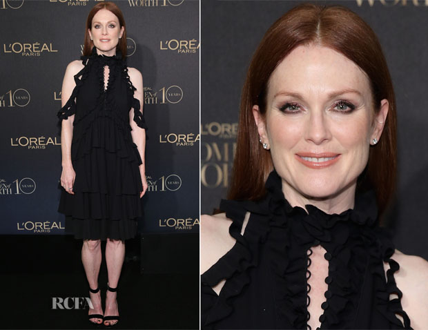 Julianne Moore In Alexander McQueen - L'Oreal Paris Women of Worth 2015 Celebration