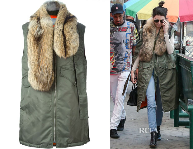 Kendall Jenner's 31 Phillip Lim Flight Vest with Detachable Fur Stole