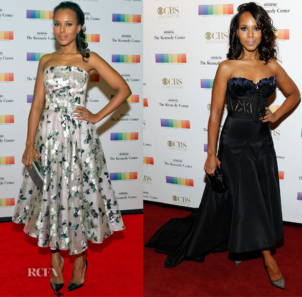 Kerry Washington In Alexander McQueen - 2015 Kennedy Center Honors Formal Artist's Dinner & Gala