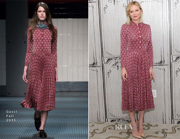 Kirsten Dunst In Gucci - AOL BUILD Series for 'Fargo'