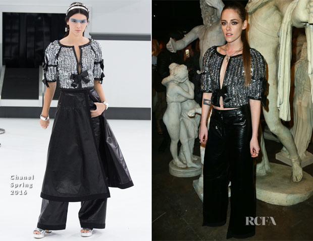 Kristen Stewart In Chanel - Chanel Metiers d'Art 2015 16 Fashion Show