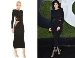 Kylie Jenner's Balmain Sheer Insert Dress