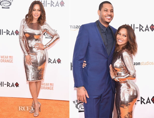 La La Anthony In Tom Ford - 'CHI-RAQ' New York Premiere