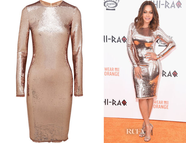 La La Anthony's Tom Ford Sequin Tulle Dress