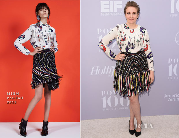 Lena Dunham In MSGM - The Hollywood Reporter's Annual Women In Entertainment Breakfast